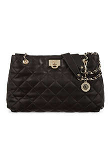 DKNY Quilted leather shopper bag