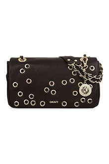 DKNY Gansevoort eyelet leather shoulder bag