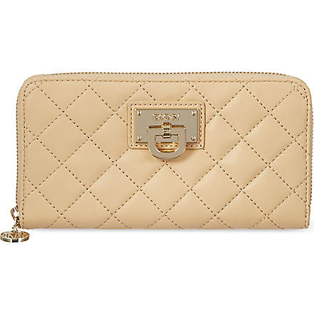 DKNY Quilted leather purse (Sand