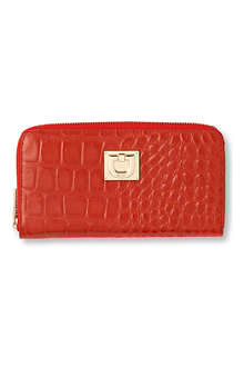 DKNY Croco leather wallet