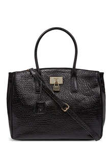DKNY French grain leather tote