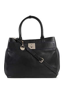 DKNY Crosby square leather tote