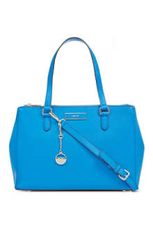 DKNY Saffiano leather double-zip tote