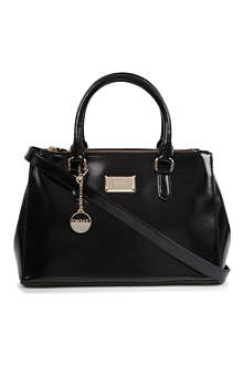 DKNY Hudson patent leather shopper