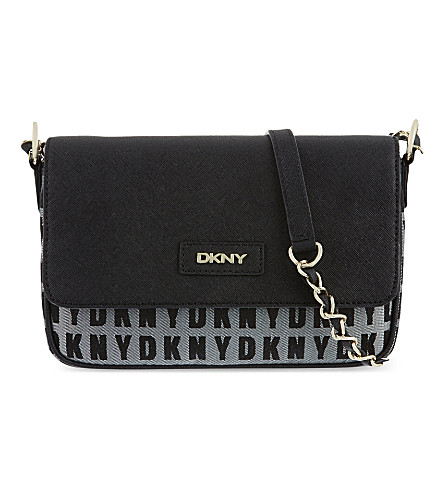 DKNY HQ cross-body bag (White/black