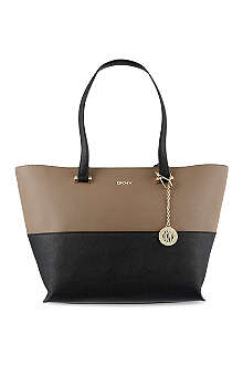DKNY Saffiano leather logo tote