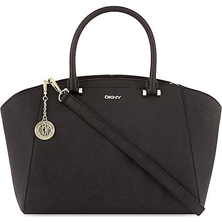 DKNY Saffiano leather satchel (Black
