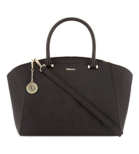 DKNY Saffiano leather satchel (Black