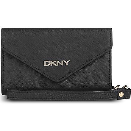 DKNY Saffiano leather iPhone purse (Black