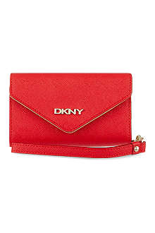 DKNY Saffiano leather iPhone purse