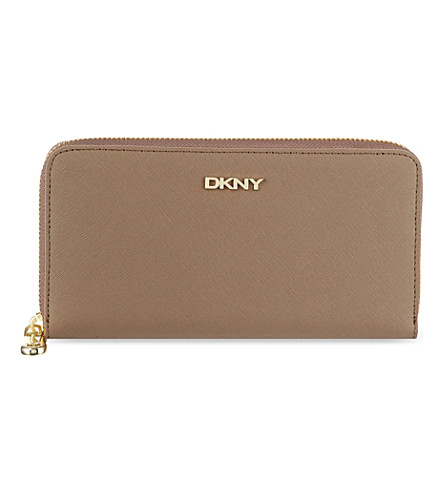 DKNY Saffiano zip-around wallet (Desert