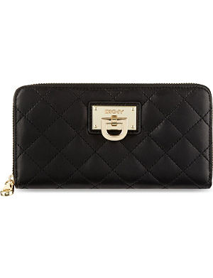 DKNY Quilted leather wallet