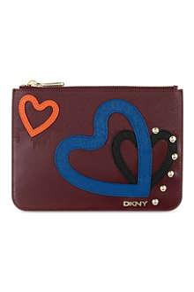 DKNY NY heart pouch