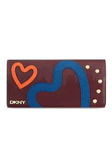 DKNY NY heart foldover wallet