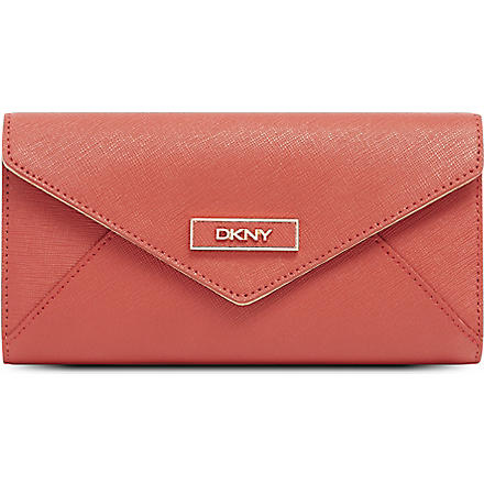 DKNY Saffiano leather envelope wallet (Red
