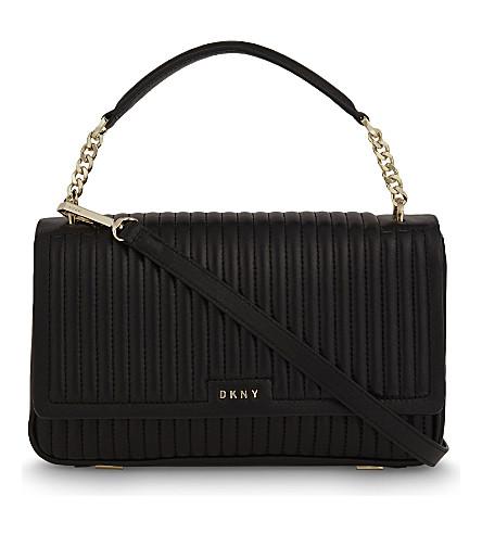 DKNY Gansevoort quilted leather shoulder bag (Black