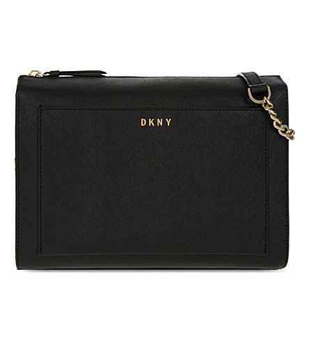 DKNY Bryant Park medium Saffiano leather box cross-body bag (Black
