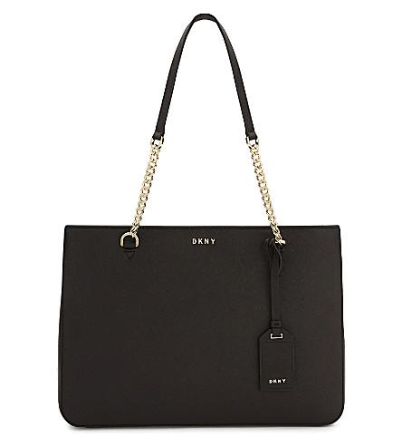 DKNY Bryant Park Saffiano leather shoulder bag (Black