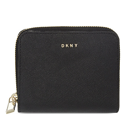 DKNY Bryant Park small Saffiano leather purse (Black