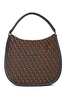 DKNY Town & Country studded monogram hobo