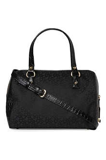 DKNY Town & Country Croco bowling bag