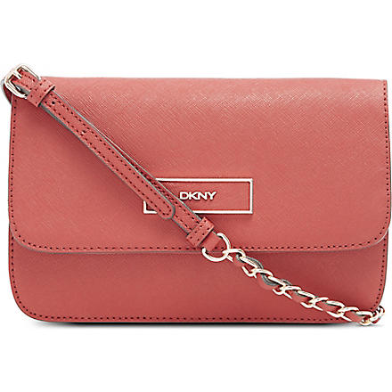 DKNY Saffiano leather shoulder bag (Red/rose gold