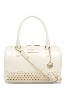 DKNY Saffiano leather bowling bag