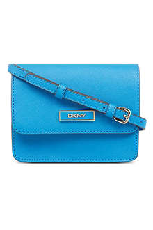 DKNY Saffiano leather mini cross body bag