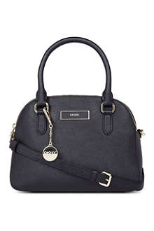 DKNY Round saffiano leather satchel