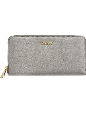 DKNY Large saffiano leather zip around wallet