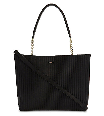DKNY Gansevoort quilted leather shopper (Black
