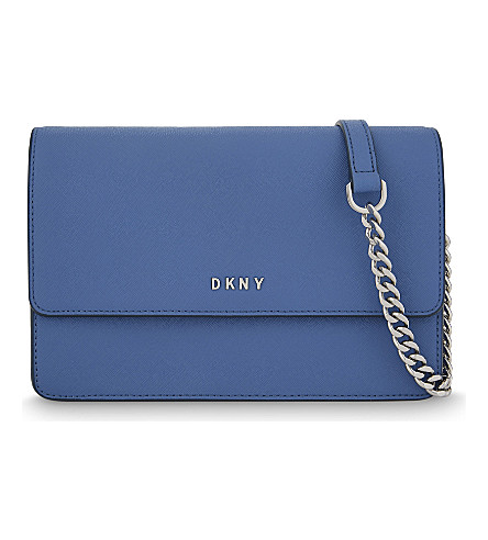DKNY Bryant Park small Saffiano leather cross-body bag (Cadet
