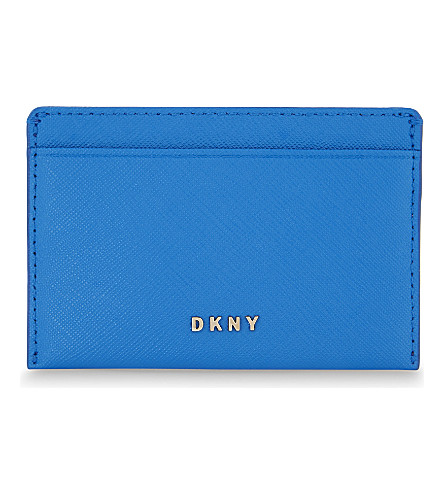 DKNY Bryant Park Saffiano leather card holder (Cerulean