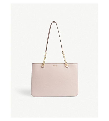 DKNY Bryant Park large leather shopper (Blush
