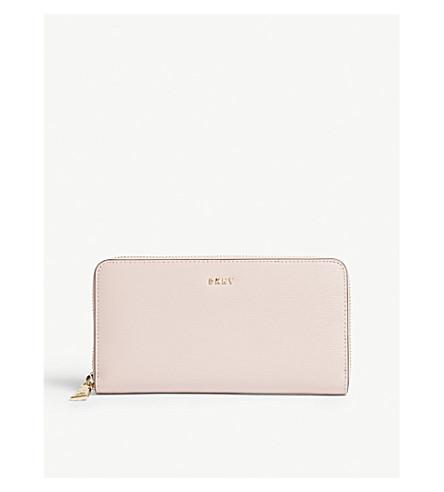 DKNY Bryant Park large leather zipped purse (Blush
