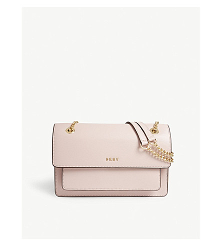 DKNY Bryant Park large leather shoulder bag (Blush