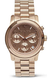 MICHAEL KORS WATCHES Runway rose gold chronograph watch