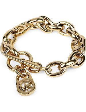 MICHAEL KORS JEWELLERY Logo-lock charm bracelet