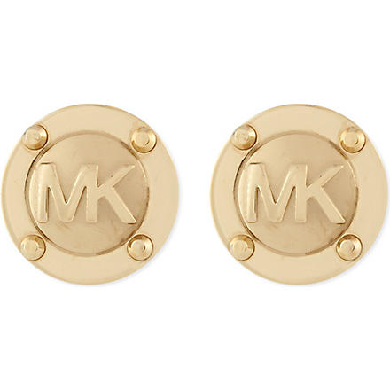 MICHAEL KORS JEWELLERY Logo stud earrings (Gold