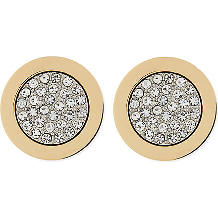 MICHAEL KORS JEWELLERY Pave stud earrings (Gold
