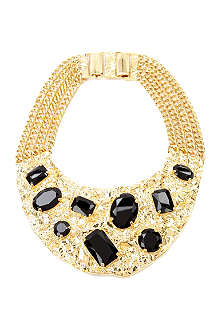 MICHAEL KORS Black crystal necklace