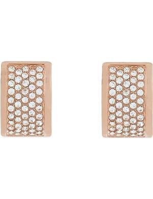 MICHAEL KORS JEWELLERY Pavé Huggie earrings