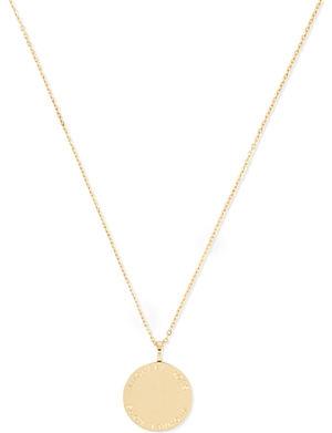 MICHAEL KORS JEWELLERY Logo disc necklace