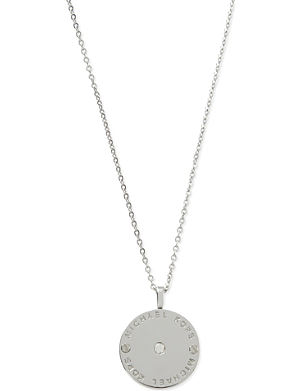 MICHAEL KORS JEWELLERY Logo disc necklace