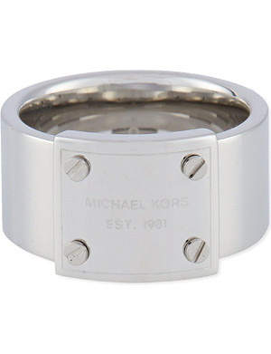 MICHAEL KORS JEWELLERY Logo plaque ring