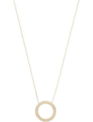 MICHAEL KORS JEWELLERY Gold plated crystal ring necklace