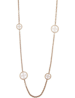 MICHAEL KORS JEWELLERY Monogram disc station necklace