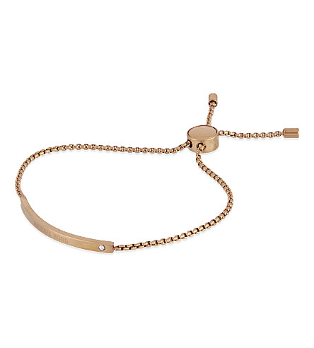 MICHAEL KORS JEWELLERY Glitz friendship bracelet (Rose+gold