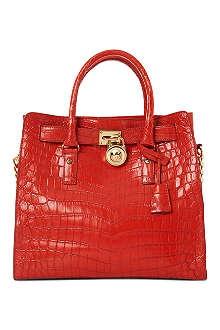 MICHAEL KORS Limited edition Hamilton croc leather tote