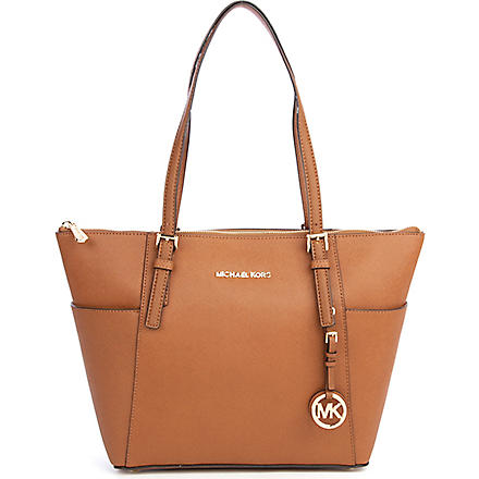 MICHAEL KORS Jet Set saffiano tote (Luggage